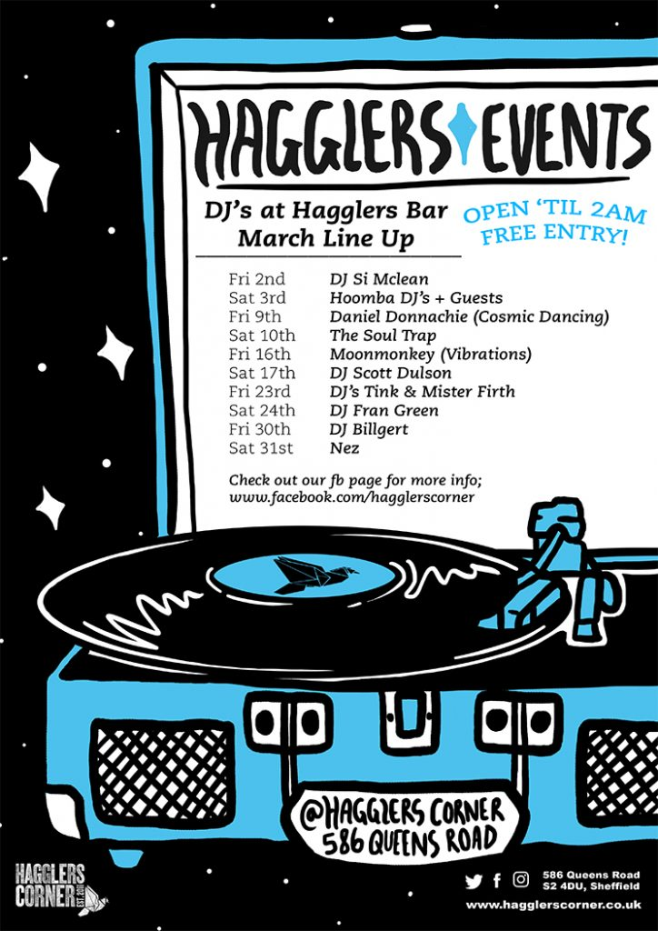 Friday and Saturday Nights at Hagglers Bar