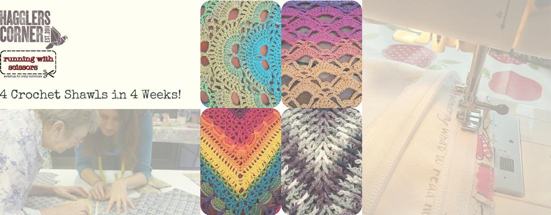 4 Crochet Shawls In 4 Weeks