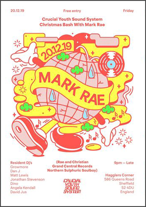 Crucial Youth Sound System Christmas Bash with Mark Rae